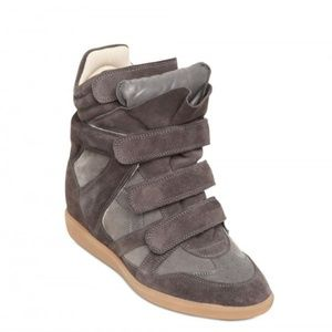 Isabel Marant Bekett Wedge Leather Suede Sneakers